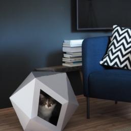 Katzenhaus aus Karton